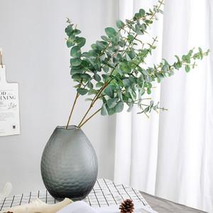 인공 식물 소프트 플라스틱 유칼립투스 녹색 지점 홈 인테리어 가짜 식물 잎 웨딩 장식 시뮬레이션 분재 DBC BH3149 식물