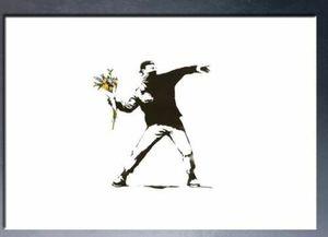 Бэнкси Alec Монополия картина маслом на холсте Аннотация граффити Art Flower Wall Art Home Decor расписанную HD Печать 191023