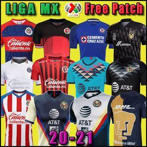 Новый 2020 Клуб Америка Cruz Azul футбол Джерси 20 21 Гвадалахара Чивас Тихуана НАУ Tigres дом вдали третий GK Liga MX маек