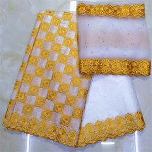 아프리카 직물 분지 부자 getzner bazin brode getzner dentelle tissu 나이지리아 레이스 재료 고품질 7야드 / lotYKB-1