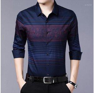 Camice di affari plaid Designer Camicie Autunno Primavera Maniche lunghe Padre Men Hombres