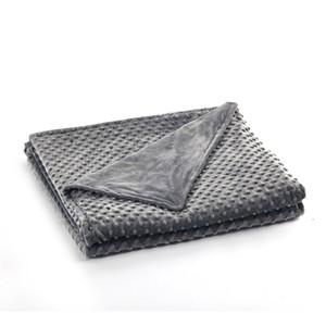 Al por mayor de edredón rey de lujo Microplush extraíble colcha edredón cubierta 20 libras 60x80 pesada calmante para adultos