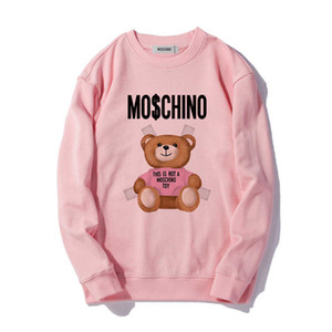 Moschino Homens Mulheres Hoodies Carta clássico manga comprida camisola com capuz Moda Top Shirts Autumn Sweater Primavera S-XXL # 45615