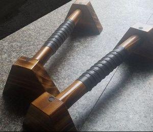 40cm de madera Push-Up Stands empuje del gimnasio del deporte ejercicio equipos de la aptitud de stands Inicio pecho entrenador muscular agarrador de la mano D92601