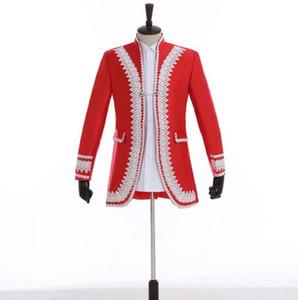 Sehen Sie European Court Blazer Herren Anzüge Designs Jacke Herren Bühnensänger Kleidung Tanzstar Kleid Punkrock Masculino Homme