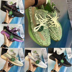 Nuovo Yecheil yeehu uomini donne Cloud White Nero Statico riflettenti scarpe da corsa gid bagliore zebra Argilla iperspazio Kanye West Sneakers Sport