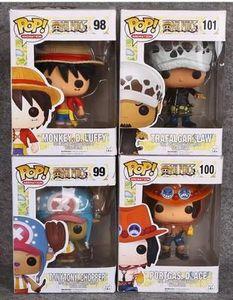 Funko POP One Piece Luffy Choba ESRO TRAFALGAR LEI decoração modelo de mão Toy boa qualidade # 98 99 100 101