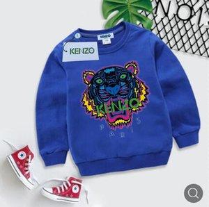 طفل أطفال ملابس الشتاء الفتيات 2018 فساتين الأطفال سترة الكورية ملابس الأطفال التقديم جولة الرقبة تي شيرت في الإرادة الحياكة
