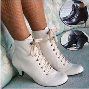2020 New Ankle Boots Cowboy Boots for Women Shoes Winter Black White Zapatos De Mujer Booties Botas Mujer Invierno 34-43