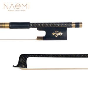 NAOMI 4 4 Carbon Fiber Violin Bow For 4 4 Violin Golden Braided Ebony Frog Well Balance Violin Parts Accessories New