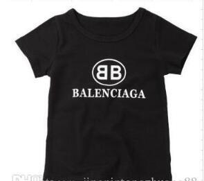 2020 Yeni Tasarımcı Marka 1-9 Yaşında Bebek Erkekler Kızlar tişört Yaz Gömlek Çocuk Tees Çocuk Giyim rede 06 shriw Tops