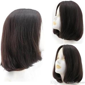Bob Kosher pelucas de color Negro de alta calidad de las pelucas más fino 12A Europea humano de la Virgen sedosa Cabello liso 4x4 seda Base judía de envío libre de la peluca
