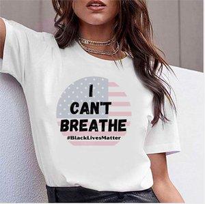 2020 Women Designer T Shirts I Cant Breathe Summer Tops Brand T Shirt Bees Embroidery Short Sleeve Tshirt Men Tees Cotton Blend T-shirt2