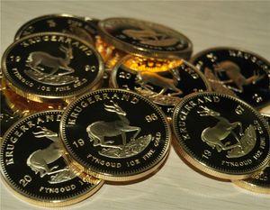 Exemple de commande, 1967-2016 Mélangez 13 pièces d'année différentes en argent plaqué or 24 carats krugerrand Livraison gratuite