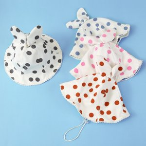 2019 Summer Cute Newborn Toddlers Baby Kids Girl Boy Bonnet Infant Sun Cap Cotton Sun hat Polka Dots Beach Outdoors Visor Cap