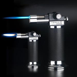 Küchenspritzpistole Pistole Torch Jet Feuerzeug Turbo im Freien doppelte Flamme Backen Grillrohrgas windundurchlässiges Camping Butan Zigarettenanzünder