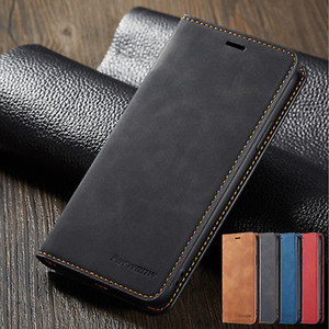 Luxo pu leather book estilo cartão flip wallet stand à prova de choque phone case capa para iphone 7 8 plus xr xs max samsung a8 s9 nota 9 8 huawei