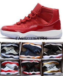 Cheap Bred 11 11s Men Basketball shoes womens Pink Snake Skin Navy Light Bone Space Jam Gamma Blue Concord Des