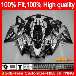 Injection For Aprilia RS-125 RS4 RS125 06 07 08 09 10 11 69HC.47 RS125R RSV125 RS 125 2006 2007 2008 2009 2010 2011 OEM Fairing silver black