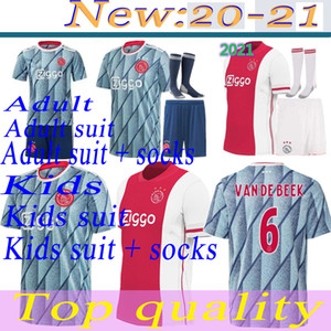 Adult suit socks kids suit socks 2020 2021 Ajax FC Soccer Jersey home Away 20 21 NERES TADIC ZIYECH PROMES Football jerseys Shirt