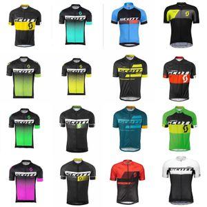 Scott Team Велоспорт Короткие Рукава Джерси Велосипед Одежда Быстрый сухой Велосипед Горный Велосипед ROPA Ciclismo C2605