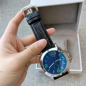 reloj de cuero genuino reloj de lujo de la nueva llegada hombre 2010 de alta calidad de gran línea azul de la cara de los relojes de cuarzo reloj deportivo dropshipping ocasional