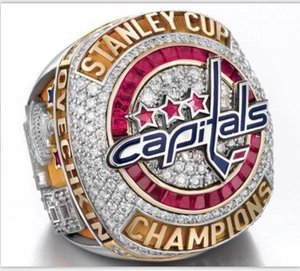 Anello da uomo di alta qualità 2018 Washington Capitals Stanley Cup Championship TAGLIA 8-14
