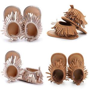 0-12M Детские летние FRIST Ходунки Летние девушки обувь кисточкой обувь Новорожденный Soft Sole Prewalker
