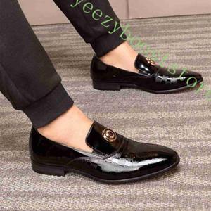 En cuir véritable Designer Hommes Chaussures habillées Classique formel Chaussures plates affaires hommes Mocassins Party de Noël des chaussures de mariage
