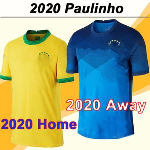 2020 P. COUTINHO G. JESUS Homens de Futebol New PAULINHO D. COSTA Casa Fora Football Shirt Fardas Brasil Selecção Nacional MARCELO COUTINHO