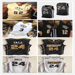 2020 UCF Knights College Basketball 24 Tacko caduta 1 B. J. Taylor 2 Terrell Allen 15 Aubrey Dawkins 35 Collin Smith cucito pullover su ordinazione