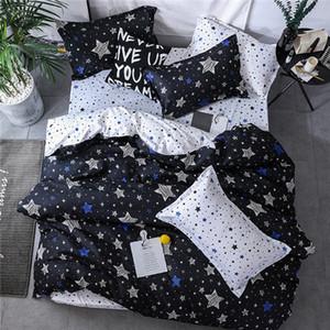 Новый дизайн Starry Sky микрофибры Постельные принадлежности Мальчики 2pcs / 3PS пододеяльник Set Four Seasons Ультра SoftDurable Одеяло Обложка и наволочки