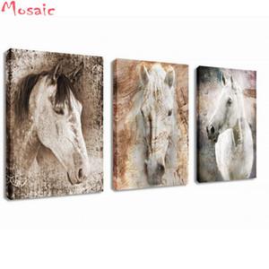 Diamond Painting Cross Stitch 3pcs / set cavallo Animali Immagini di Strass Cucito Diamante Mosaico Cervo Home Decor FAI DA TE