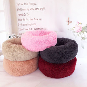 Cucce per cani Round Dog Bed Lavabile Pet Cat House Dog Lettino traspirante per cani Super Soft Plush Pads Prodotti per cani 50-60cm