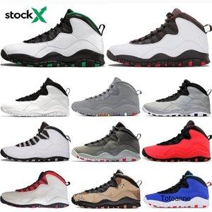 Auf X-Männer Basketball-Schuhe 10 Seattle Cement 10s Grau Cooler bin ich zurück Chicage Pulver blau weiß Steel Grey Trainer Sneaker Sport Designer