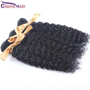 C Kinky Kıvırcık Brezilyalı İnsan Saç Dokuma Paketi Remi Saç Uzantıları 3adet ucuz TISSAGE Brésilienne Jerry Curl Başarmak Fiyatları