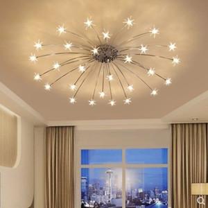 Norbic творческий хром железный цветок G4 светодиодные лампы люстры лампы домашнего декора гостиной прозрачного стекла звезды люстры освещения