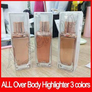 2019 Beauty Face make-up Afrodite Aurora Luna evidenziatore su tutto il corpo evidenziatore evidenziatori Bronzers Liquid Glow 3 colori DHL libera