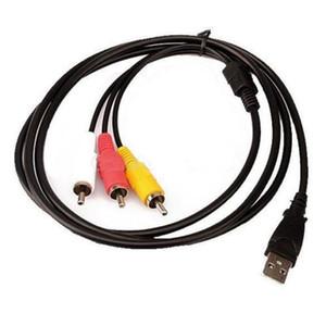 1.5m 5FT USB Maschio A a 3 RCA Cavo del cavo USB al cavo di trasferimento dati RCA