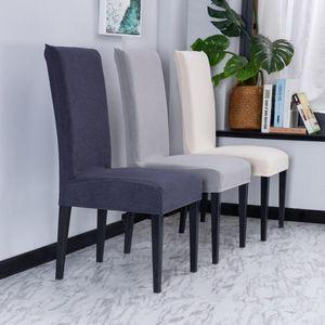 Super Soft Fleece Fabric Chair Couverture Housses de chaise Spandex Pour manger / mariage / Cuisine / Hôtel Party Banquet Bureau Couverture
