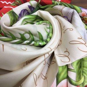 Großhandels-neue Art-Frauen der quadratische Schal Pashmina 100% Seide Köper gute Qualität druckt Herzen Buchstaben Muster Größe 130cm - 130cm