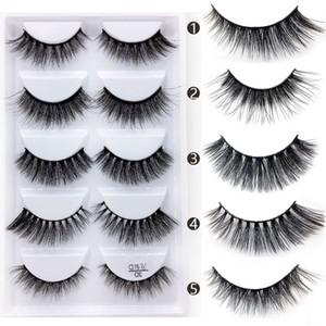 Mélange chaud 6 Style Multipack Faux Cils 3D Cils De Vison Doux Wispy Long Faux Cils Maquillage Des Yeux Naturels Faux Cils En Gros