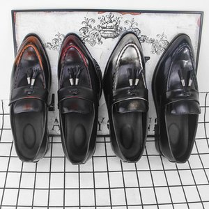 Attractive2019 Erkek Deri Rahat Ayakkabılar Genç Trend Keskin Tam Elbise Ayakkabı Üretimi Oem Üretimi
