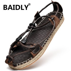 New Men Summer Sandals Genuine Leather Casual Shoes Man Roman Style Beach Sandals Men Summer Slippers Shoes