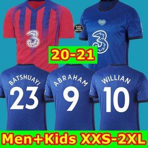 كرة القدم بالقميص الأعلى WERNER PULISIC كانتي ABRAHAM MOUNT ZIYECH 2019 2020 2021 يقيمون أسود MATTER Camiseta دي قميص كرة القدم 19 20 21 MEN KIDS