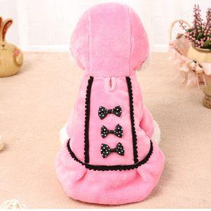 Petcircle الوردي الكلب الملابس الشتوية اللباس الكلب معطف سترة مع الكلب القوس الحيوانات الأليفة ملابس بنات للصغير متوسط اللوازم كبيرة