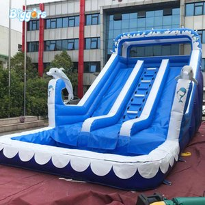 Commercial Grade Inflatable Slide Water Slide With Pool For Funny Summer Games