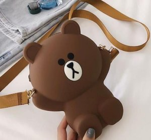 2020 Designer New Female Bag Luxury Bear Mobile Phone Bag Parent-child Single Shoulder Messenger Bag Cartoon Cute Trend Logo
