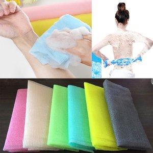 30 * 90 cm Salux Naylon Japon Peeling Güzellik Cilt Banyo Duş Yıkama Bezi Havlu Geri Fırçalama Banyo Fırçalar Peeling Havlu WX9-440