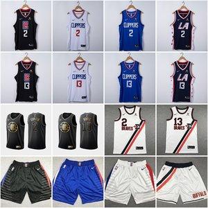 Men's 2020 Los AngelesClippersJersey 2# Kawhi Leonard 13# Paul George New Swingman Basketball Jerseys Sports Shorts